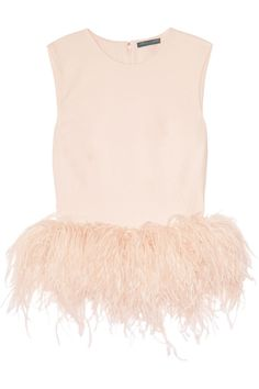 Alexander McQueen|Silk-cady and feather top