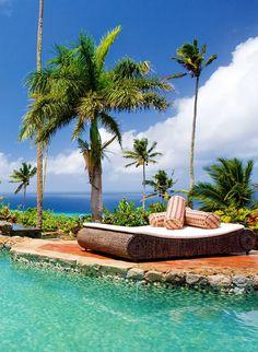 Bed & Pool Laucala Island Resort, Taveuni Fiji