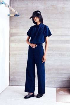 Rachel Comey Resort 2015 Fashion Show Rachel Comey, Denim Fashion, Look Fashion, Fashion Show, Street Fashion, Estilo Denim, Textiles, Resort 2015, 2015 Trends