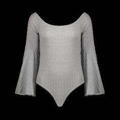 Flare Sleeve Off The Shoulder Bodysuit