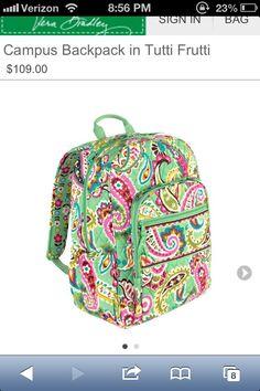 Shop Women's Vera Bradley size OS Backpacks at a discounted price at Poshmark. Description: EUC Vera Bradley backpack in tutti frutti. Baby Girl Diaper Bags, Vera Bradley Laptop Backpack, Paisley, Michaela, Cute Backpacks, School Backpacks, Teen Backpacks, Leather Backpacks, Leather Bags