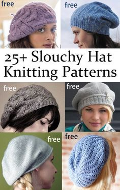 Slouchy Hat Knitting Patterns                                                                                                                                                                                 More