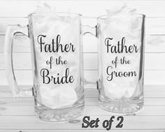 Father of Bride Mug Father of the groom by OhSoSweetandSassy