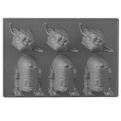 Star Wars Silicon Ice Trays - Yoda & R2-D2