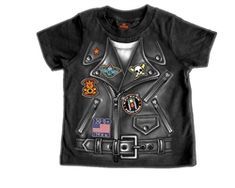 Little boys motorcycle jacket graphic t-shirt #bikers #kids #clothing