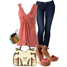 """Pink and Green"" by jliz516 on Polyvore"