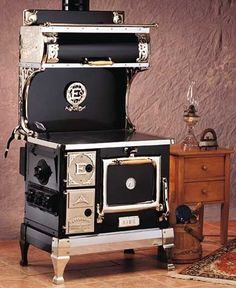 This kitchen stove  is an oldie