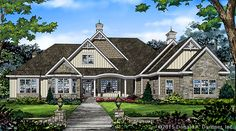 New Plan - Now Available! The Harper - Plan 1411. This European-influenced design features 5 bedrooms, all on a sprawling single level. With the master suite separated for privacy. http://www.dongardner.com/plan_details.aspx?pid=4735. #NewPlan #European #Ranch