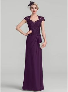 34a2cad76c8b A-Line Princess Sweetheart Floor-Length Chiffon Lace Evening Dress With  Ruffle Abiti