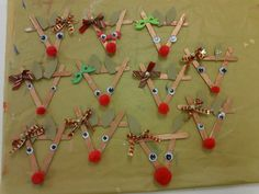 Reindeer from craft sticks..something fun to do before the kids go on christmas break:)