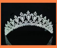 Magnificent Rhinestone Bridal Tiara Crown, via Etsy.