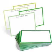 The Broadway Lime Light Border Note Cards Collection