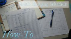Setting up a study schedule.  Good for High School and College students.