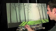 Time Lapse Surreal Painting The Misty Forest by Tim Gagnon http://www.ti...