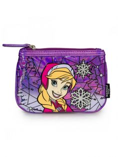 """""""Frozen Anna Stained Glass"""" Coin Bag by Loungefly (Purple)"""