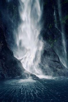 Bowen Falls, Milford Sound, New Zealand. Karin Elizabeth