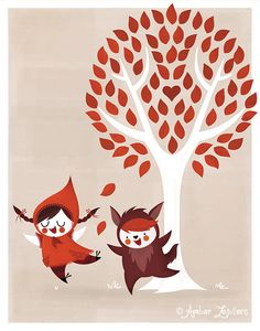 Little Red Riding Hood by Amber Leaders 11x14 art print