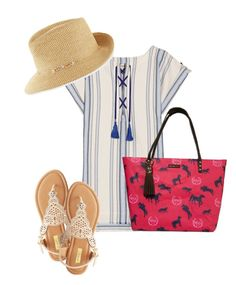 """Summer Daze"" by paulandlydiaglobal on Polyvore featuring Lemlem, Eric Javits and Qupid"