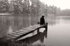 Sittin' on the Dock of Snowy Pond in Germany