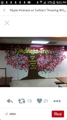 Counselor Bulletin Boards, Tree Bulletin Boards, Winter Bulletin Boards For School Hallways, Bullying Bulletin Boards, School Hallway Decorations, Elementary Bulletin Boards, Summer Bulletin Boards, Kindness Bulletin Board, Interactive Bulletin Boards
