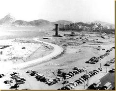 A foto abaixo é do final da década de 1950 mostrando a construção do Monumento aos Pracinhas bem como dos primórdios do parque do Flamengo.