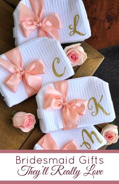 Shop now for personalized bridesmaids and wedding party gifts they'll love! Gifts For Wedding Party, Bridal Gifts, Party Gifts, Wedding Favors, Wedding Party Gift Ideas, Bridesmaids And Groomsmen, Wedding Bridesmaids, Bridal Shower Decorations, Wedding Decorations