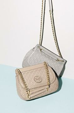 Adore for spring! Quilted shoulder bag by Tory Burch.