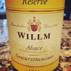 The Nittany Epicurean: 2011 Willm Gewurztraminer Réserve