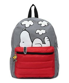 Love this Peanuts Snoopy in the Dog House Puffed Pocket Backpack on #zulily! #zulilyfinds