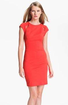 Perfect for work then out    Ted Baker London Paneled Sheath Dress available at Nordstrom