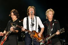 Rusty Anderson, Paul McCartney and Brian Ray (and Abe  maybe...)
