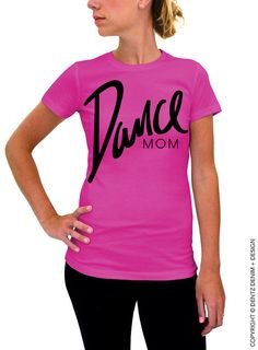 In October We Wear Pink - Pink with White Ink Women& Tshirt - Breast Cancer Awareness by DentzDenim slouchy sweater off the shoulder Dance Mom Shirts, Hip Hop, We Wear, How To Wear, Ballet, Dance Moms, Dance Recital, Cat Shirts, All About Fashion