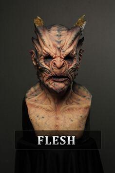 Prosthetic Makeup, Sfx Makeup, Immortal Masks, Masque Halloween, Horror Masks, Alien Character, Horror Monsters, Plastic Art, Creature Concept