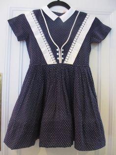 Vintage little girl's dress, 1950's.