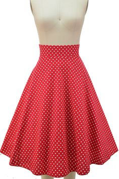 """Just restocked at Le Bomb Shop! Our """"Sightseeing Sweetie High-Waisted Full Midi Skirt"""" in Blue Dot, Red Dot & Coral Dot.. Sizes Small-3X.. Only $34-$35 with FREE U.S. s/h! Also available in 8 other prints/colors! Buy them all here: http://lebombshop.net/search?type=product&q=%22sightseeing%22&search-button.x=0&search-button.y=0"""
