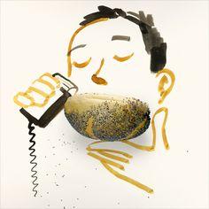 Editorial Illustration, Creative Illustration, Creative Sketches, Fun Sketches, Magazine Illustration, Food Illustrations, Abstract Sunday, Abstract Art, Sunday Sketches