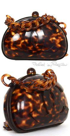 Regilla ⚜ Chanel, Vintage 90's Tortoise Shell Crossbody Bag