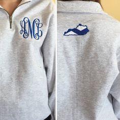 Kentucky Monogram Pullover Sweatshirt Applique by aMhmonograms