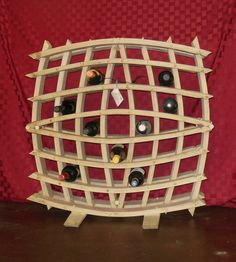 Wine Barrel Stave Bottle Rack by GCWWorks on Etsy, $850.00