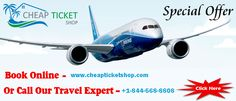 Where to Find #Cheap_Flights If you are looking to buy cheap air ticket in United State & Canada  for domestic or International Journey, you are at right place- where your search to find cheap flight tickets and Hotel Booking completes here. www.cheapticketshop.com  , Toll Free - +1-844-568-8808