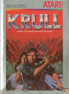 Krull - Box Front About the time this game came out the movie was a hit. I still remember the Cyclops from the movie. He was my favorite..  Game On!  #atari #gaming #retrogamer