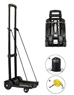 09fa3d13f Carretilla de mano plegable, ROYI Carritos para equipaje con 4 ruedas Carga  máxima 70 kg
