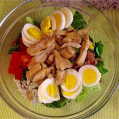 Homemade Cobb Salad with grilled chicken