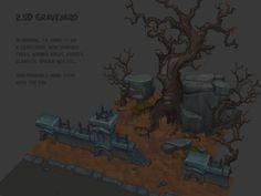 http://polycount.com/discussion/179146/handpainted-graveyard-2-5d-style
