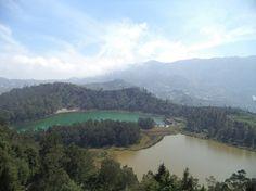 Telaga Warna or Color Lake View From Above
