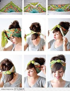 ✂ - - - DIY Turban Headband - - -  Click here for more DIY inspiration!
