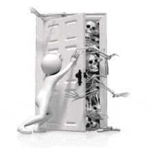 Skeletons Creeping Out Closet - Animated Clipart for PowerPoint Abrazo Virtual Gif, Animated Smiley Faces, Animated Clipart, Hidden Mystery, Powerpoint Animation, Dark Evil, 3d Human, Sculpture Lessons, Powerful Pictures