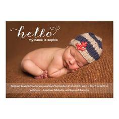 Photo birth announcement