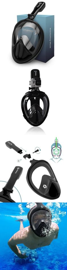 Snorkels and Sets 71162: Snorkel Mask Set For Adults And Children, Full Face Easybreath Anti-Leak Diving -> BUY IT NOW ONLY: $48.72 on eBay! http://www.deepbluediving.org/best-dive-computers-for-beginners/