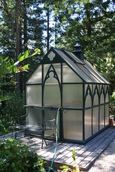 This wouldn't be too hard to do with our little greenhouse.